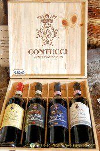 Montepulciano's famous Vino Nobile
