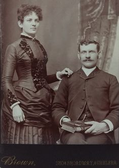 Louisa Houston Earp and Morgan Seth Earp. From an original cabinet card in the collection of P.