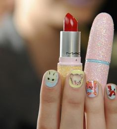 Meadham Kirchhoff Nail wraps  http://charliehearts.blogspot.com/2012/02/i-just-have-to-have.html
