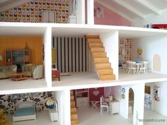 This bright and modern abode. | 41 Dollhouses That Will Make Wish You Were A Tiny Doll