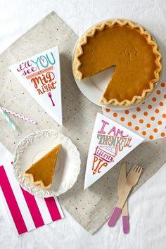 Leftover Pie Printables: http://www.stylemepretty.com/living/2014/11/18/the-best-thanksgiving-diys/
