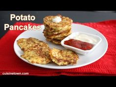 Crispy potato pancakes recipe. Simple and easy college recipes you can make in your dorm room. Also it's perfect as side dish in parties and gatherings.