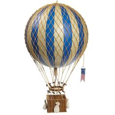 Køb Luftballon i blå til pynt på børneværelset online her - Ø: 32 cm. | LirumLarumLeg