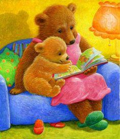 Mamma orso e orsetto