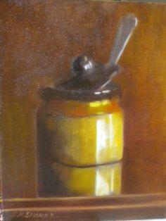 """8""""x10"""".oil on board.Honey pot."""