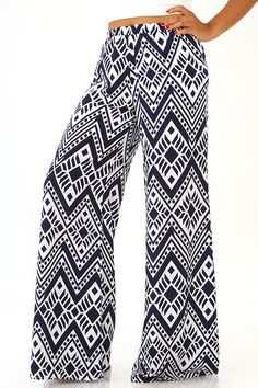 Trading Places Pants: Navy/White