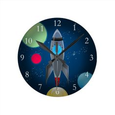 Outer Space Rocket Ship Wall Clock today price drop and special promotion. Get The best buyDiscount Deals          	Outer Space Rocket Ship Wall Clock Online Secure Check out Quick and Easy...