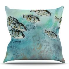 East Urban Home Surf Perch by Josh Serafin Outdoor Throw Pillow