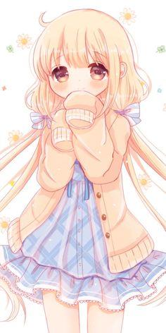 56 Super Ideas For Wallpaper Cute Cartoon We Heart It Cute Anime Chibi, Manga Cute, Chica Anime Manga, Cute Anime Pics, Anime Girl Cute, Beautiful Anime Girl, Kawaii Anime Girl, Anime Art Girl, Kawaii Art