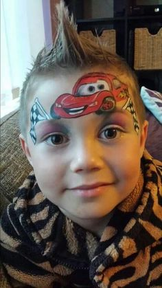 Lightning McQueen face paint