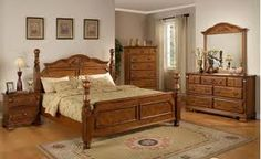 The Jack bedroom set offers a traditional look for an affordable price. With a warm honey finish and cannonball posts it's a look you can't beat for the price. This set comes with an additional FREE nightstand! At Home Furniture Store, Office Furniture, Bedroom Furniture, Queen Headboard, Headboard And Footboard, Indian Wedding Planner, Traditional Looks, My Dream Home, Drawers