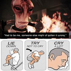 He's the very model of a scientist salarian. *snortsnifflesniffleWAAAAAHHHH* I was inconsolable for days....