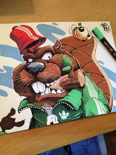 Cheo @cheograff Today's guff... #cheo #Posca #beaver