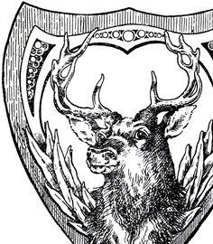 Vintage Shield Deer Image