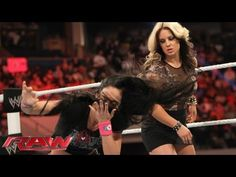 AJ attacks Kaitlyn: Raw, March 25, 2013 - YouTube