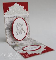 Pop-up Christmas card … Pop Up Christmas Cards, Xmas, Shadow Box, Stampin Up, Lily, Fancy, Creative, Diorama, Christmas