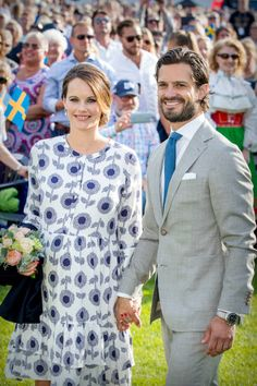 Prince Carl Philip of Sweden and Princess Sofia of Sweden attend the Victoria day celebration on the occasion of The Crown Princess Victoria of...