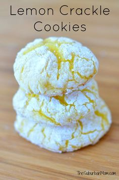 Easy Lemon Crackle Cookies, Free Printable ~ This is my favorite lemon cookie recipe.