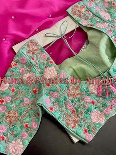 Half Saree Lehenga, Stylish Blouse Design, Indian Designer Outfits, Indian Wedding Outfits, Work Blouse, Hand Designs, Embroidered Blouse, Saree Blouse Designs, Bollywood Fashion