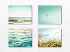 nautical canvas set beach photography canvas prints 11x14 16x20 fine art photography ocean canvas gallery wrap birds decor beach canvas art