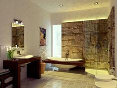 badezimmerideen holzdesign fliesen stein | haus bad | pinterest