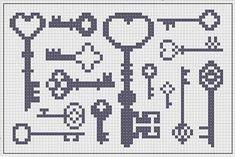 cross stitch keys - Buscar con Google