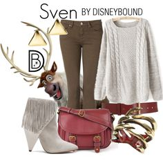 #disney #disneybound #frozen Sven by leslieakay on Polyvore featuring Tommy Hilfiger, IRO, St. John's Bay, by / natalie frigo, Lauren Ralph Lauren and Barneys New York