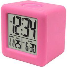Equity by La Crosse Cube LCD Alarm Clock, it comes in purple. at walmart Cute Alarm Clock, Travel Alarm Clock, Alarm Clocks, Girl Dorms, La Crosse, Google Shopping, Dream Decor, Digital Alarm Clock, School Supplies