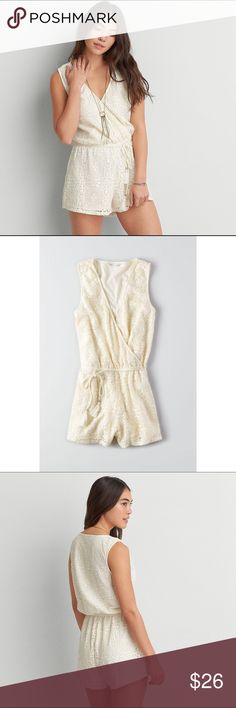 LACE ROMPER NWT! super cute lace romper. bought for lollapalooza & never worn!! nothing is wrong, absolutely brand new! American Eagle Outfitters Dresses