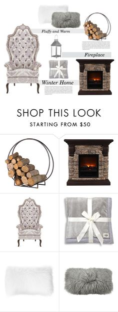 """""""Winter Home"""" by polychampion-805 ❤ liked on Polyvore featuring interior, interiors, interior design, home, home decor, interior decorating, Haute House, UGG, John Lewis and Donna Karan"""