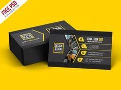 Creative Black Business Card Template PSD - PSDFreebies.com - PSDFreebies.com
