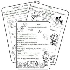 CP lecture textes Noël French Worksheets, French Education, Core French, French Classroom, Reading Lessons, Teaching French, Learn French, Classroom Organization, Classroom Ideas