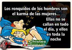 Chiste: Los ronquidos de los hombres   Chistes Bromas y mas