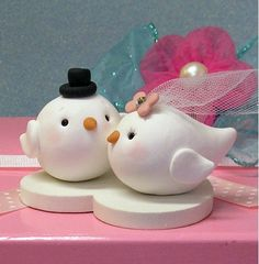 Love Doves Wedding Cake Topper by Buttonwilloe on Etsy, $60.00