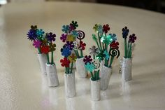 We made these daisy swaps for a day camp. All the girls wanted one.