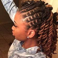 Red loc dreadlocks updo dreadstop twisted pinterest women with locs pmusecretfo Image collections