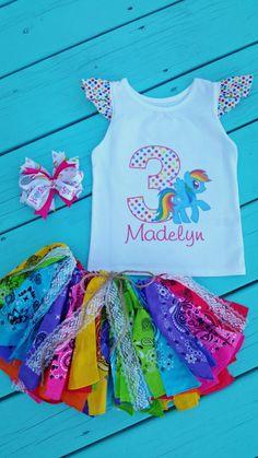 My Little Pony birthday rainbow birthday by ElizabethClaire123