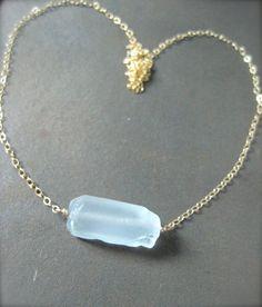 Hawaiian sea glass necklace