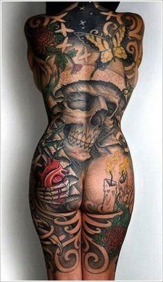 skull | full body tattoos | egodesigns
