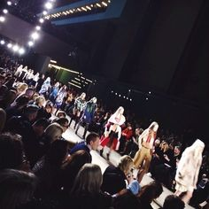 """Lucie on Instagram: """"Loooved it! ❤️ #topshop #unique #lfw... ❤ liked on Polyvore featuring pictures and instagram"""