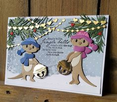 Marianne Design, Animal Cards, New Year 2020, Jingle Bells, Paper Piecing, Making Ideas, Dyi, Christmas Cards, Card Making