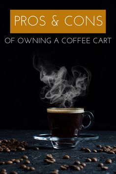 Starting a coffee cart can be a rewarding business for anyone looking to become an entrepreneur. But before doing so, it's important to examine not only the advantages of opening a coffee cart but also the disadvantages of doing so. Coffee Carts, Coffee Blog, Coffee Maker, Small Space, Mini, Entrepreneur, Appliances, Business, Kitchen