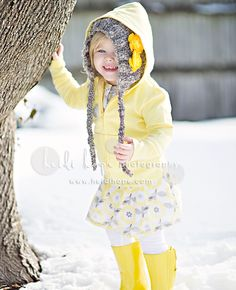 grey and yellow snow photo shoot