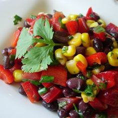 "Black Bean and Corn Salad II | ""This salad was very popular at a pot luck dinner I went to last night and I had several requests for the recipe."""