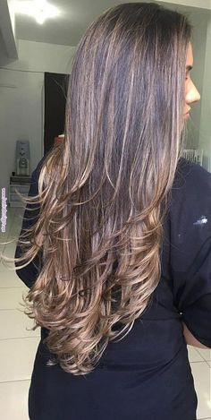 Hair Long Styles Cuts Brunettes Balayage New Ideas Perfect Hair Color, Hair Color For Black Hair, Cool Hair Color, Dark Hair, Hair Color Balayage, Hair Highlights, Long Face Hairstyles, Pinterest Hair, Long Layered Hair