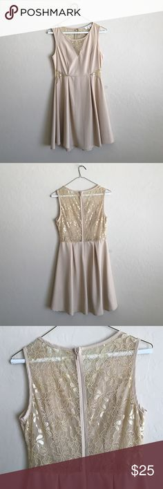 Classy nude lace dress! Pretty nude dress, worn once. Size medium. Brand is The Style London. Bought off of ModCloth Dresses
