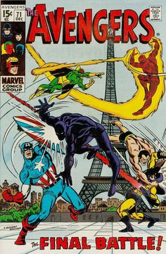 Even before their 70s series, Invaders assemble! Making history again for the first time: Writer Roy Thomas. Making fetch happen once and again: Cover and inside artists Sal Buscema and Sam Grainger.