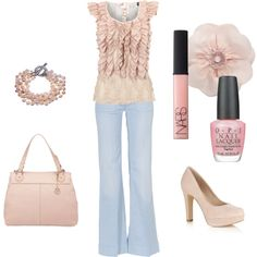"""Pretty in Pink"" by anne-ratna on Polyvore"