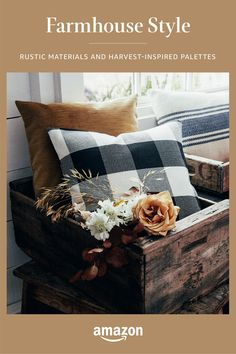 Country Decor, Rustic Decor, Home Living Room, Living Room Decor, Farmhouse Style, Farmhouse Decor, Cozy House, Diy Home Decor, Sweet Home