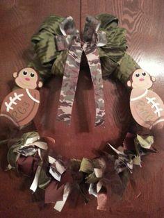 Baby wreath for hospital door.